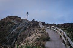 Farol do ponto do castelo, Nova Zelândia Fotos de Stock