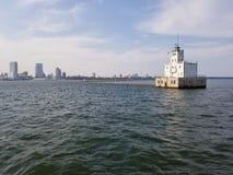 Farol do porto de Milwaukee imagens de stock