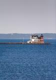 Farol do quebra-mar de Rockland Foto de Stock Royalty Free