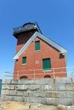 Farol do quebra-mar do porto de Rockland, Maine Imagens de Stock Royalty Free