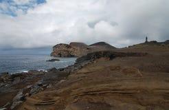 Farol dos capelinhos. Capelinhos lighthouse in Faial island, Azores Portugal Royalty Free Stock Photography