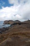Farol dos capelinhos. Capelinhos lighthouse in Faial island, Azores Portugal Stock Image