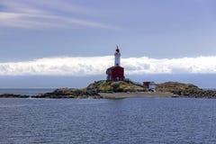 Farol e Juan De Fuca Strait Background Cloudscape de Fisgard fotos de stock