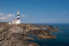 Farol e litoral da área de Favaritx em Menorca Imagem de Stock