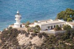 Farol em Campello, Alicante, Espanha Foto de Stock Royalty Free
