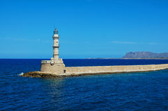Farol em Greece Foto de Stock