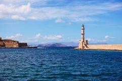 Farol em Greece Imagem de Stock Royalty Free