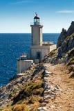 Farol em Greece Fotos de Stock Royalty Free