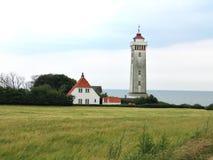 Farol em Helnaes Dinamarca Imagens de Stock