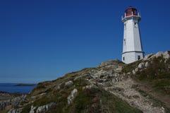 Farol em Louisbourg Foto de Stock Royalty Free