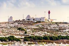 Farol em Mahdia, Tunísia Foto de Stock