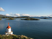 Farol em Noruega Fotografia de Stock Royalty Free