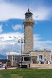 Farol em Patras, Peloponnese, Grécia ocidental Foto de Stock
