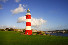 Farol em Plymouth, Reino Unido Foto de Stock