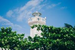 Farol em Puerto Morelos, Quintana Roo, México imagem de stock