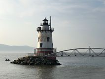 Farol em Tarrytown em Hudson River em New York Imagem de Stock Royalty Free