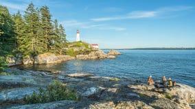 Farol em Vancôver ocidental, Columbia Britânica, Canadá Foto de Stock Royalty Free
