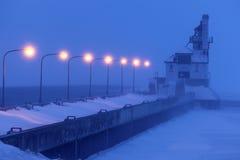 Farol exterior do quebra-mar sul do porto de Duluth Foto de Stock Royalty Free