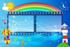 Farol fotografmy do filme das crianças s do quadro ilustração royalty free