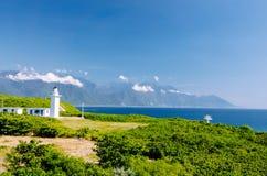 Farol, Hualien, Taiwan Fotos de Stock Royalty Free