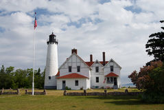 Farol Iroquois do ponto, Michigan Foto de Stock Royalty Free
