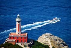Farol italy de Capri imagem de stock