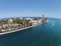 Farol litoral na praia da palombeta, Florida fotografia de stock royalty free