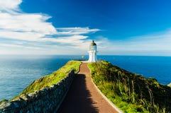 Farol maravilhoso do cabo Reinga, Nova Zelândia Fotos de Stock