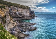 Farol na cabeça de Taiaroa, península de Otago, NZ fotografia de stock royalty free