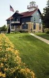 Farol na cidade de Michigan fotos de stock royalty free