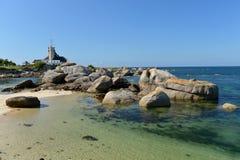 Farol na costa atlântica de Brittany imagens de stock royalty free