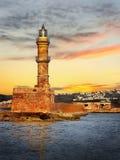 Farol na Creta, Grécia imagem de stock
