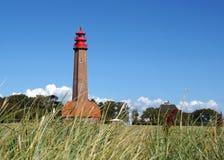 Farol na ilha de Fehmarn, Alemanha Fotos de Stock