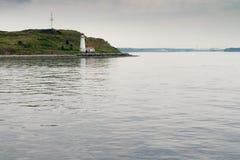 Farol na ilha perto de Halifax, Nova Scotia, Canadá imagem de stock