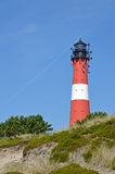 Farol na ilha Sylt em Hoernum Foto de Stock
