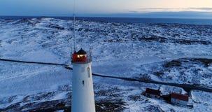 Farol na vista aérea Foto de Stock