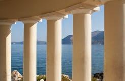 Farol no console de Kefalonia, Greece Foto de Stock Royalty Free