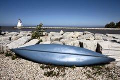 Farol no Lago Huron Fotos de Stock