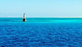 Farol no Mar Vermelho Fotografia de Stock