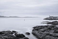Farol no Rias Baixas em Pontevedra, Galiza Imagens de Stock Royalty Free