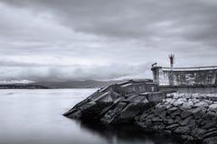 Farol no Rias Baixas em Pontevedra, Galiza Fotos de Stock