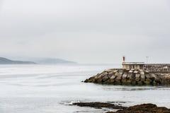 Farol no Rias Baixas em Pontevedra, Galiza Foto de Stock
