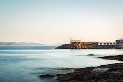 Farol no Rias Baixas em Pontevedra, Galiza Imagem de Stock