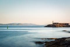 Farol no Rias Baixas em Pontevedra, Galiza Fotografia de Stock Royalty Free