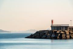 Farol no Rias Baixas em Pontevedra, Galiza Imagens de Stock