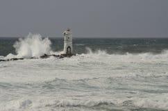 Farol no vento Fotografia de Stock