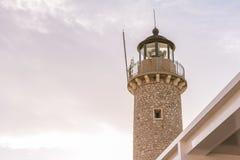 Farol Patras, Peloponnese, Grécia Foto de Stock Royalty Free