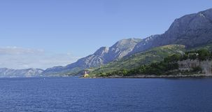 Farol perto de Makarska Imagem de Stock Royalty Free