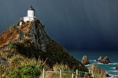 Farol, ponto da pepita, Nova Zelândia foto de stock royalty free