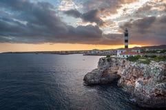 Farol Porto Colom fotografia de stock royalty free